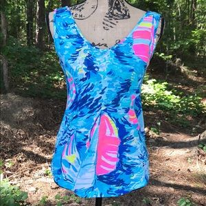 Lilly Pulitzer Gigi Sailboat Tank Top NWOT XXS